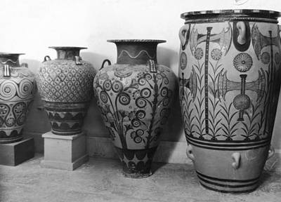 A Photograph Of Jars From Knossos Poster by Maynard Owen Williams