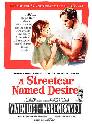 A Streetcar Named Desire, Vivien Leigh Poster by Everett