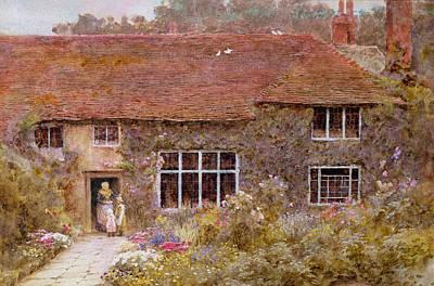 A Surrey Cottage Poster by Helen Allingham