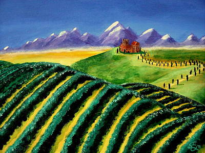 A Winery In Tuscany Poster by Spencer Hudon II