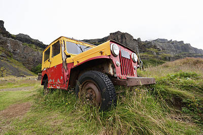 Abandoned 4x4 Four Wheel Drive Vehicle Poster by Corepics