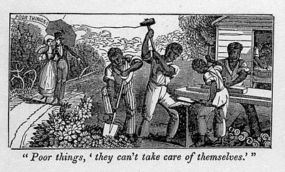 Abolitionist Cartoon Satirizing Slave Poster by Everett