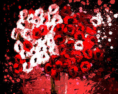 Abstract Flowers By Shawna Erback Poster by Shawna Erback