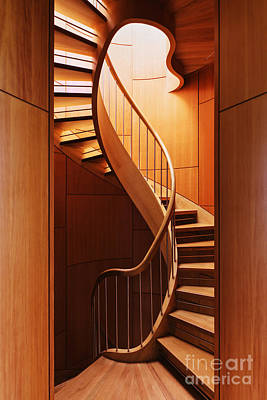 Abstract Spiral Staircase Poster by Jeremy Woodhouse