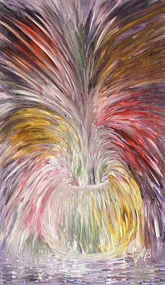 Abstract Vase And Energy Mouvement Poster by Georgeta  Blanaru