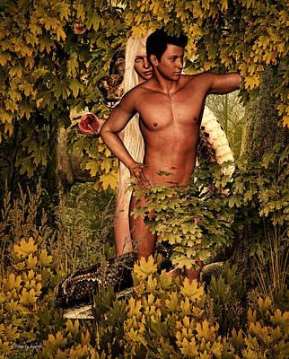 Adam's Pre-fall Poster by Lourry Legarde