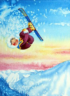 Aerial Skier 13 Poster by Hanne Lore Koehler