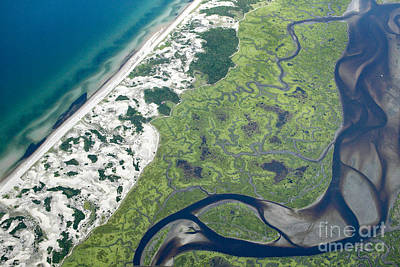 Aerial Vew Of Sandy Neck Beach In Barnstable On Cape Cod Massac Poster by Matt Suess