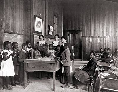 African American Children Learning Poster by Everett