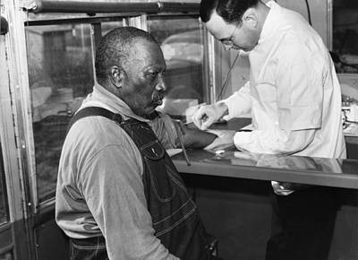 African American Patient Receiving Poster by Everett