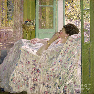 Afternoon - Yellow Room Poster by Frederick Carl Frieseke