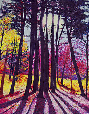 Afternoon Forest Poster by Cindy Lee Longhini