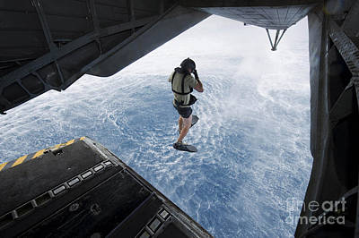Air Force Pararescueman Jumps Poster by Stocktrek Images