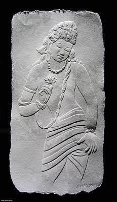 Ajanta Cave Figure Poster by Suhas Tavkar