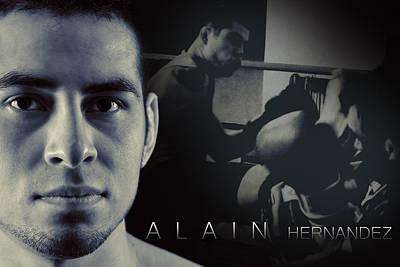 Alain Hernandez Mixed Martial Artist Poster by Lisa Knechtel