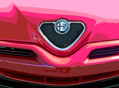 Alfa Romeo Grille Poster by Samuel Sheats
