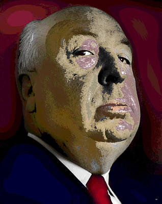 Alfred Hitchcock Poster by Charles Shoup