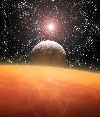 Alien Planet Poster by Julian Baum