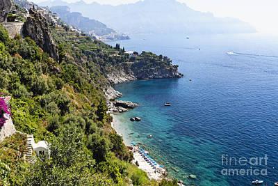 Amalfi Coast At Conca Dei Marini Poster by George Oze
