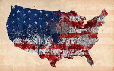 America Poster by Mark Ashkenazi
