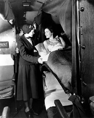 American Airlines Stewardess Checks Poster by Everett