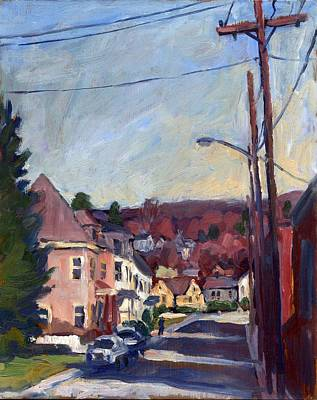 American Street In Autumn Poster by Thor Wickstrom