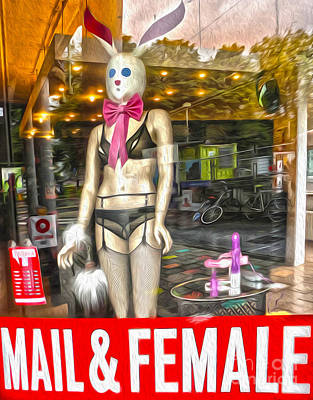 Amsterdam Bunny In Lingerie  Poster by Gregory Dyer