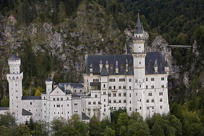 An Aerial View Of Neuschwanstein Castle Poster by Michael Poliza