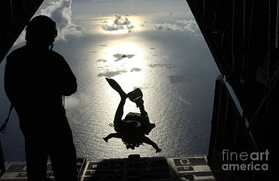 An Air Force Pararescueman Jumps Poster by Stocktrek Images