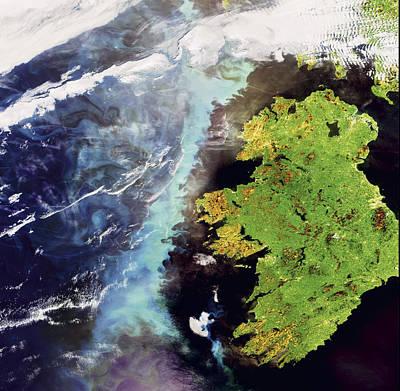 An Algae Bloom Off The Coast Of Ireland Poster by Esa