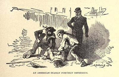 An American Seaman Forcibly Impressed Poster by Everett