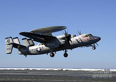 An E-2c Hawkeye Conducts A Touch-and-go Poster by Stocktrek Images