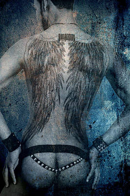 Angel Nude  Poster by Mark Ashkenazi