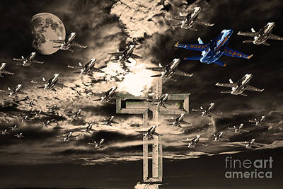 Angels In The Sky Poster by Wingsdomain Art and Photography