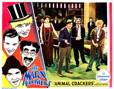Animal Crackers, Left From Top Harpo Poster by Everett