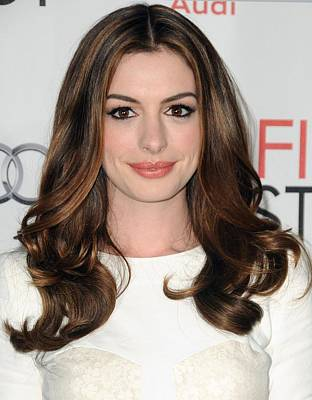 Anne Hathaway At Arrivals For Afi Fest Poster by Everett