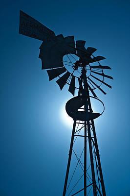 Antique Aermotor Windmill Poster by Steve Gadomski