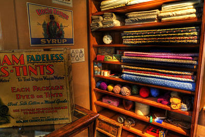 Antique General Store Linen - General Store - Vintage - Nostalgia Poster by Lee Dos Santos