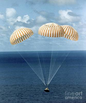 Apollo 14 Water Landing Poster by NASA / Science Source