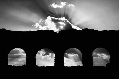 Aqua Claudia Aqueduct Poster by Fabrizio Troiani