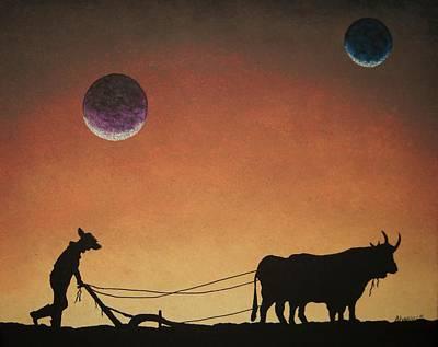 Arado Con Bueyes II Poster by Edwin Alverio