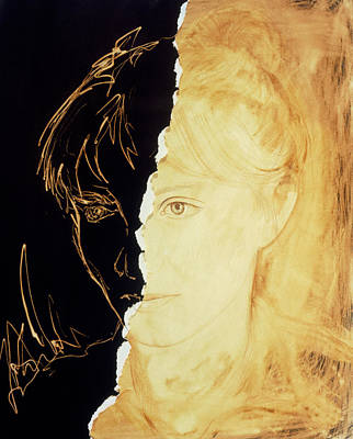 Artist's Abstract Depiction Of Schizophrenia Poster by David Gifford