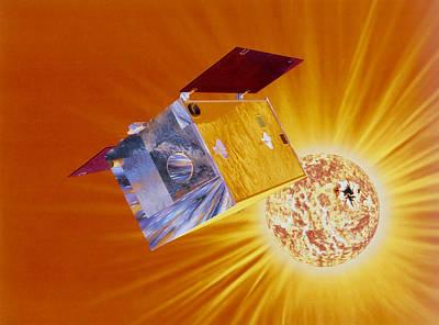 Artist's Impression Of Yohkoh Satellite Poster by Julian Baum