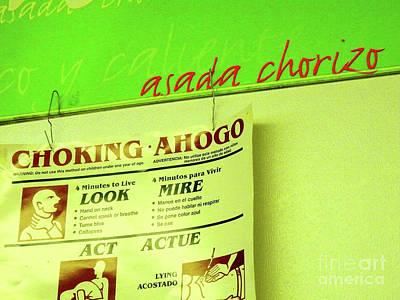 Asada Choke - Izo Poster by Joe Jake Pratt