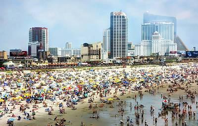 Atlantic City Beach Poster by John Loreaux
