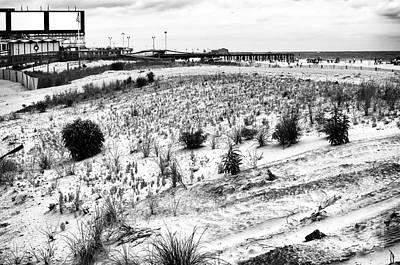 Atlantic City Dunes Poster by John Rizzuto