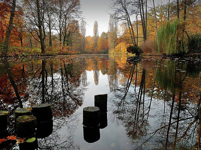Autumn At Lake Poster by Bernd Schunack