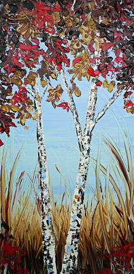 Autumn Birch Poster by Christine Krainock