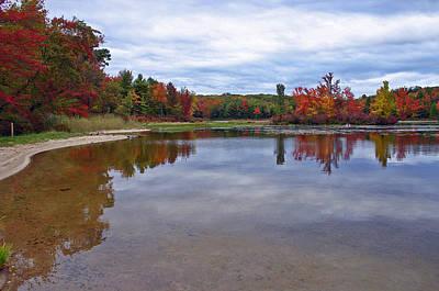 Autumn Shoreline Poster by David Rucker