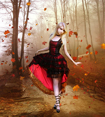 Corsets Poster featuring the digital art Autumn Waltz by Mary Hood